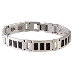 Picture of Sabona Men's Black Carbon Fibre Stainless Magnetic Bracelet