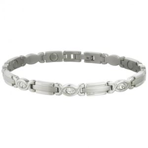 Picture of Sabona Women's Executive Silver Gem Magnetic Bracelet
