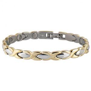 Picture of Sabona Women's Executive Dress Gold Duet Magnetic Bracelet